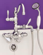 Faucets for freestanding and clawfoot tubs